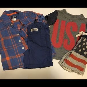 2 summer baby boy outfits Sz 2t